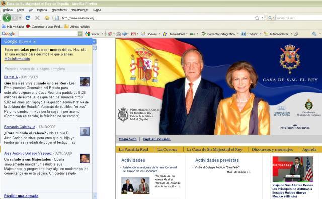 Sidewiki de la Casa Real